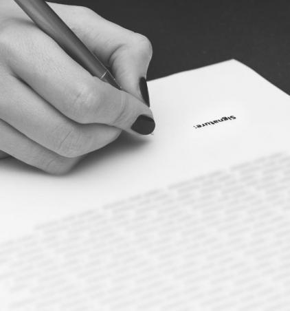 Partie signature d'un document